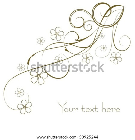 Beautiful background with flower - stock vector