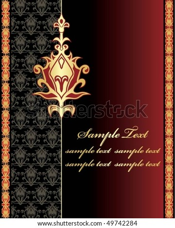 beautiful background with gold pattern