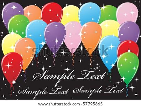 Beautiful balloons illustration - stock vector