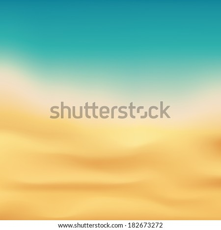 Beautiful beach and tropical sea background. - stock vector