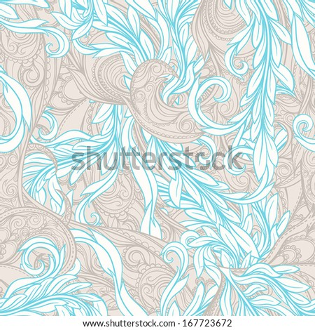 beautiful beige and blue seamless abstract pattern. vector illustration