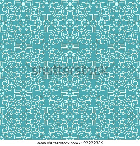 beautiful beige seamless retro pattern with flowers and leaves on a turquoise background. vector illustration