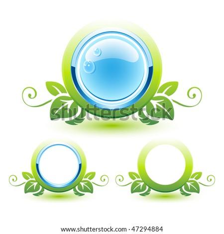 Beautiful bio icons. Vector illustration - stock vector