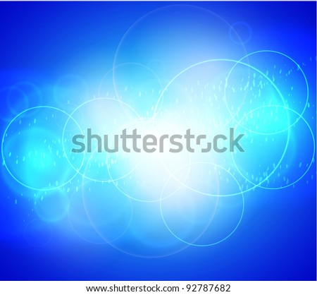 beautiful blue abstract background. Vector illustration. Eps 10