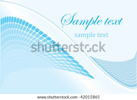 beautiful blue background in vector format
