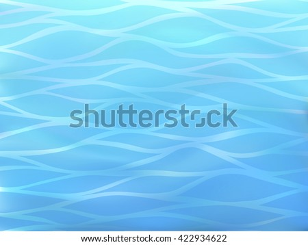 Beautiful blue background of stylized sea waves