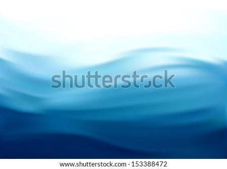 Beautiful Blue Satin. Drapery Background, Mesh Vector Illustration - stock vector