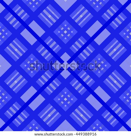 beautiful blue seamless geometric pattern.Intersecting diagonal stripes.Vector illustration.Can be used for textile,fabric,wrapping paper. - stock vector