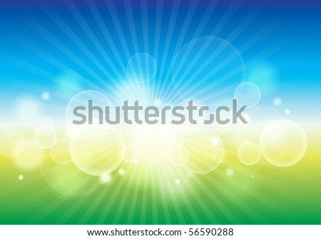 Beautiful bokeh abstract background. Vector illustration - stock vector