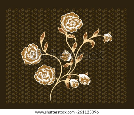 beautiful bouquet of roses brown. - stock vector