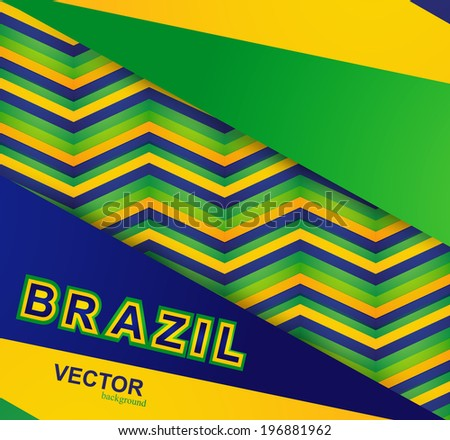 Beautiful Brazil colors concept card colorful pattern texture vector illustration - stock vector