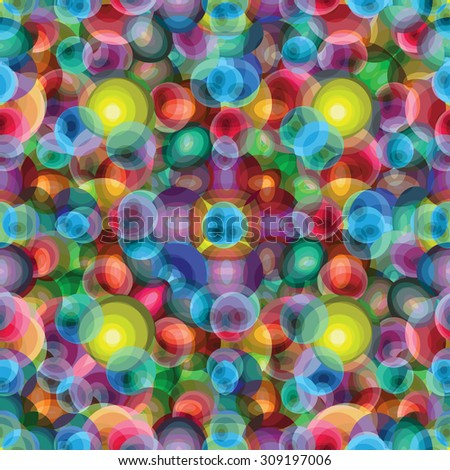 beautiful bright circles psychedelic background - stock vector