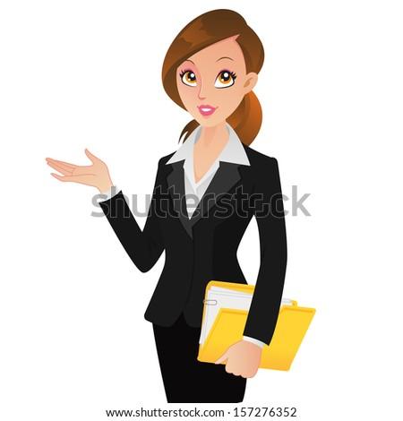 Beautiful business executive (VECTOR) - stock vector