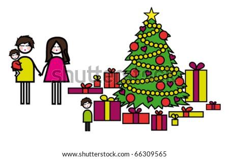 Beautiful Christmas. - stock vector
