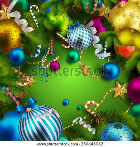 Beautiful christmas background - stock vector