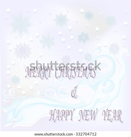 Beautiful Christmas background with color and white snowflakes. Vector .EPS10 - stock vector