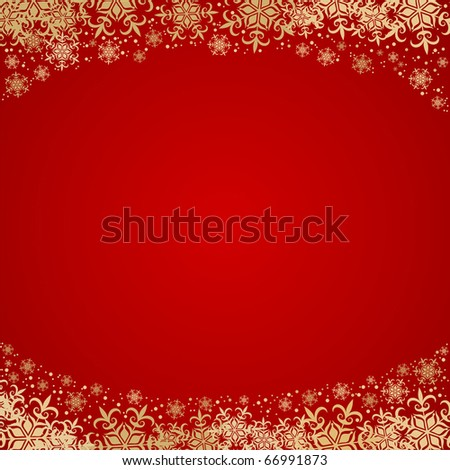 Beautiful Christmas background with golden decoration and space for text - stock vector