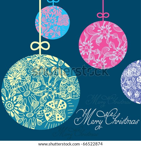 Beautiful Christmas ball . illustration. - stock vector