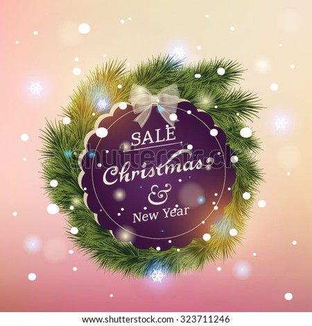 Beautiful Christmas lettering card. Vector illustration  - stock vector