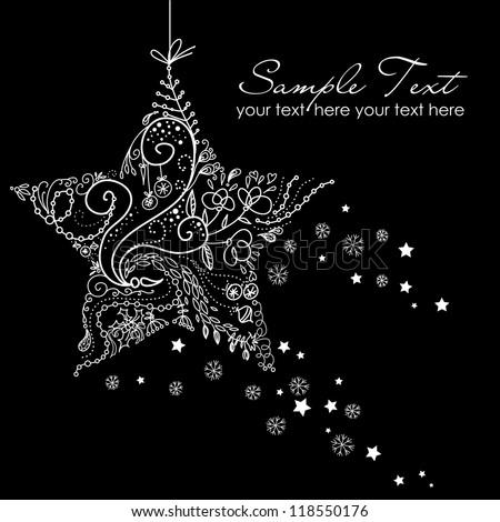 Beautiful Christmas Star illustration. Christmas Card - stock vector