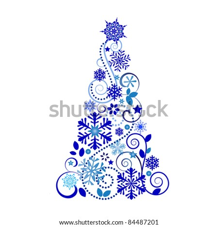 Beautiful christmas tree - stock vector