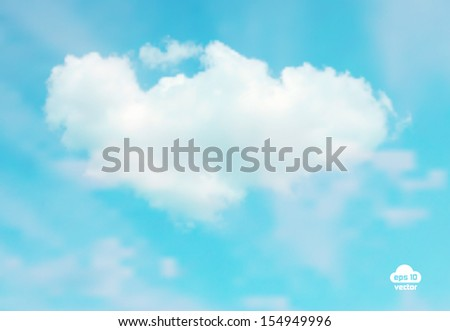 Beautiful cloudscape. EPS 10 vector illustration. Used mesh layers and transparency layers - stock vector