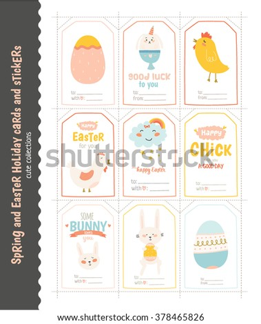 Beautiful collection easter greeting cards gift stock vector beautiful collection of easter greeting cards gift tags stickers and labels templates in vector negle Choice Image