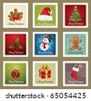 Beautiful Collections of Christmas Postmarks. - stock