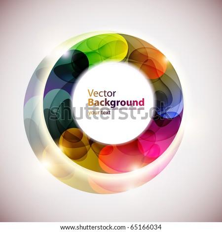 Beautiful color circle - stock vector