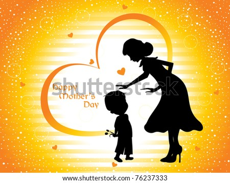 beautiful concept wallpaper for happy mother's day celebration - stock vector
