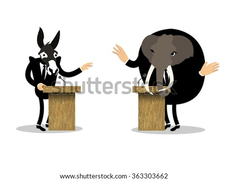 beautiful conceptual graphic design of debate - stock vector