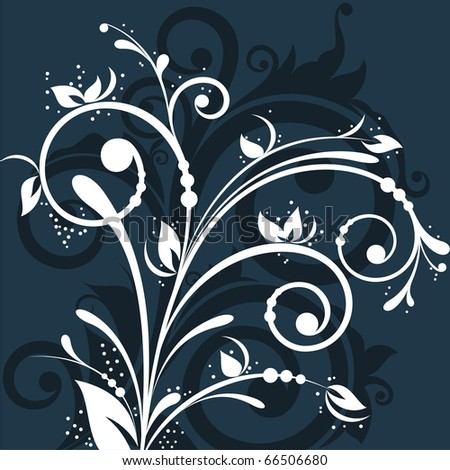 Beautiful contrasting floral design on dark background