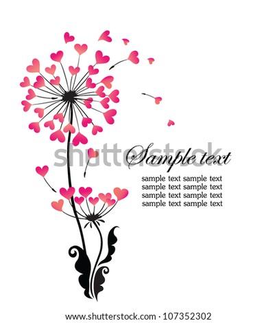 Beautiful dandelion - stock vector