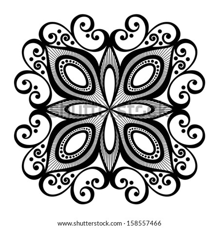 Beautiful Deco Square (Vector), Patterned design