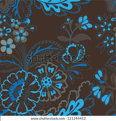 beautiful decorative seamless floral pattern - stock vector