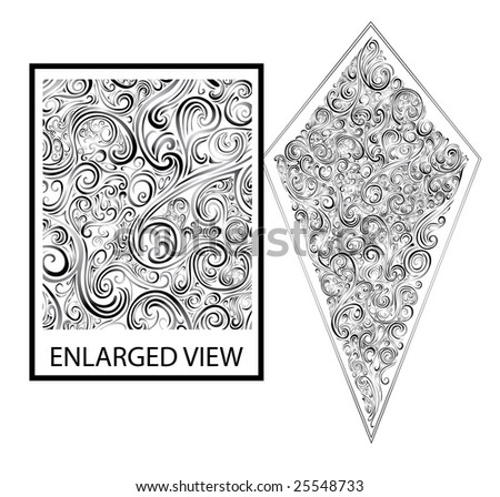 Beautiful delicate scroll crest Great for backgrounds or as a stand alone piece.