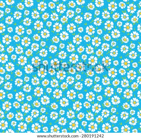 Beautiful ditsy floral seamless background - stock vector