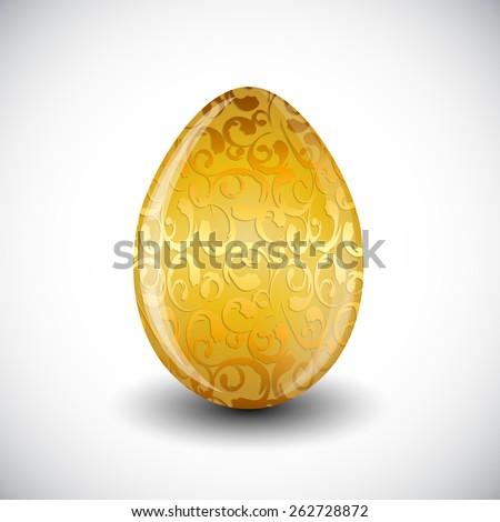 Beautiful Easter Egg Vector Illustration EPS10 - stock vector