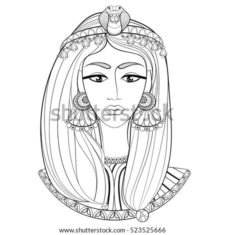 egyptian women coloring pages - photo#26