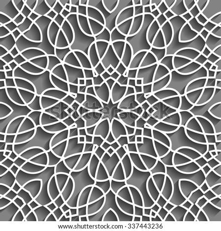 Beautiful Embossed Pattern Design - stock vector