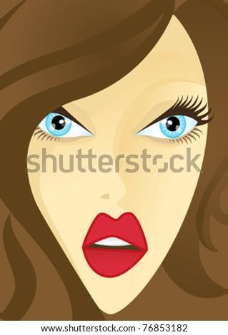 Beautiful eyes - stock vector