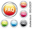 Beautiful FAQ buttons collection. - stock photo