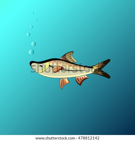 Little Fish Eat Big Fish Unity Stock Vector 293365604