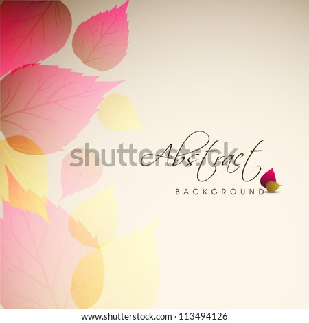 Beautiful floral background with space for your message. EPS 10. - stock vector