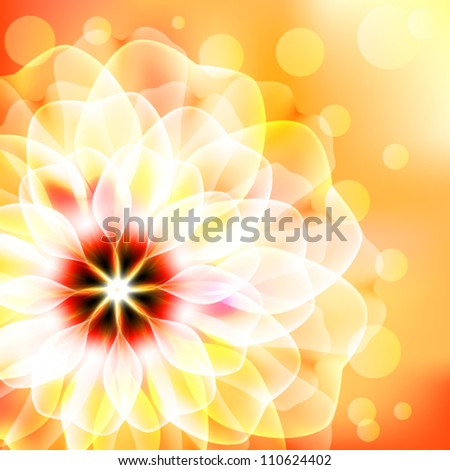 Beautiful floral card - stock vector