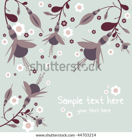 beautiful floral card. Vector illustration