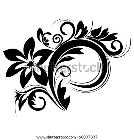Beautiful floral composition for design - stock vector
