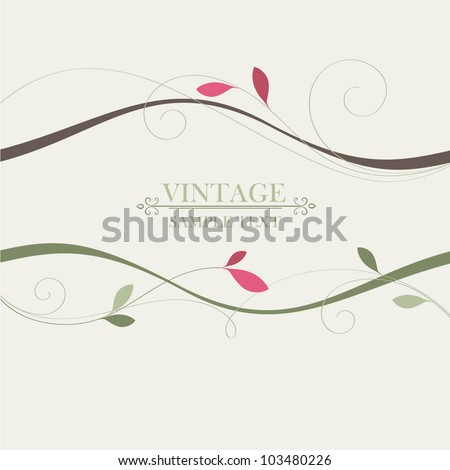 Beautiful floral frame. - stock vector