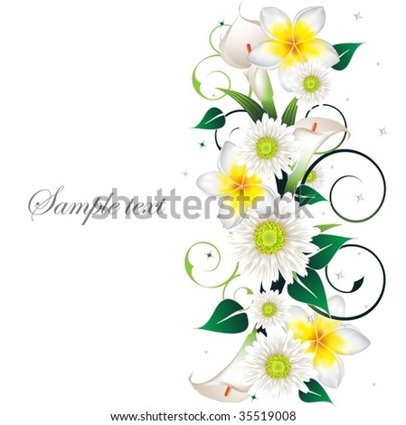 Beautiful Floral Frame - stock vector