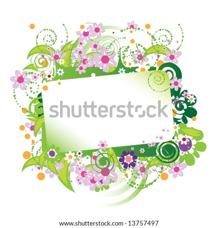 Beautiful floral frame, place for your text